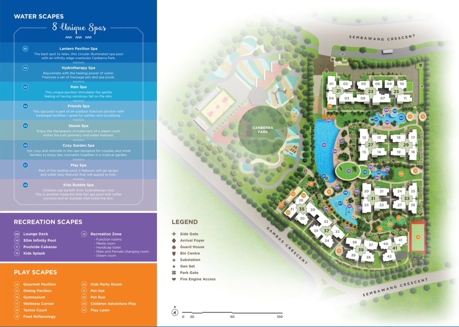 Parc Life Executive Condo Site Plan & Facilities