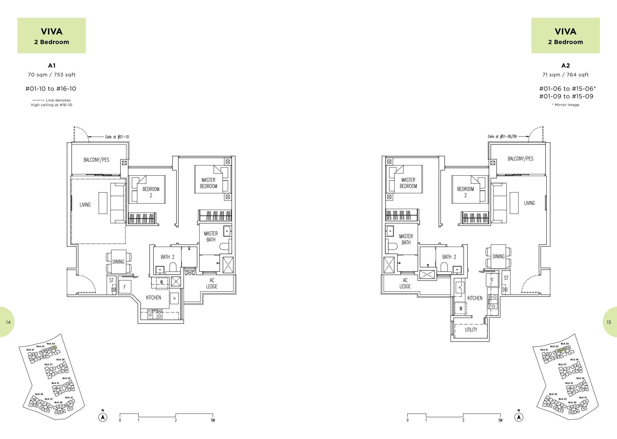 Parc Life FloorPlan A1 and A2