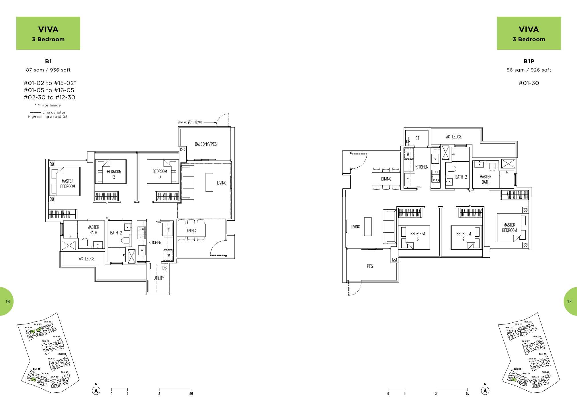 Parc Life FloorPlan B1 and B1P