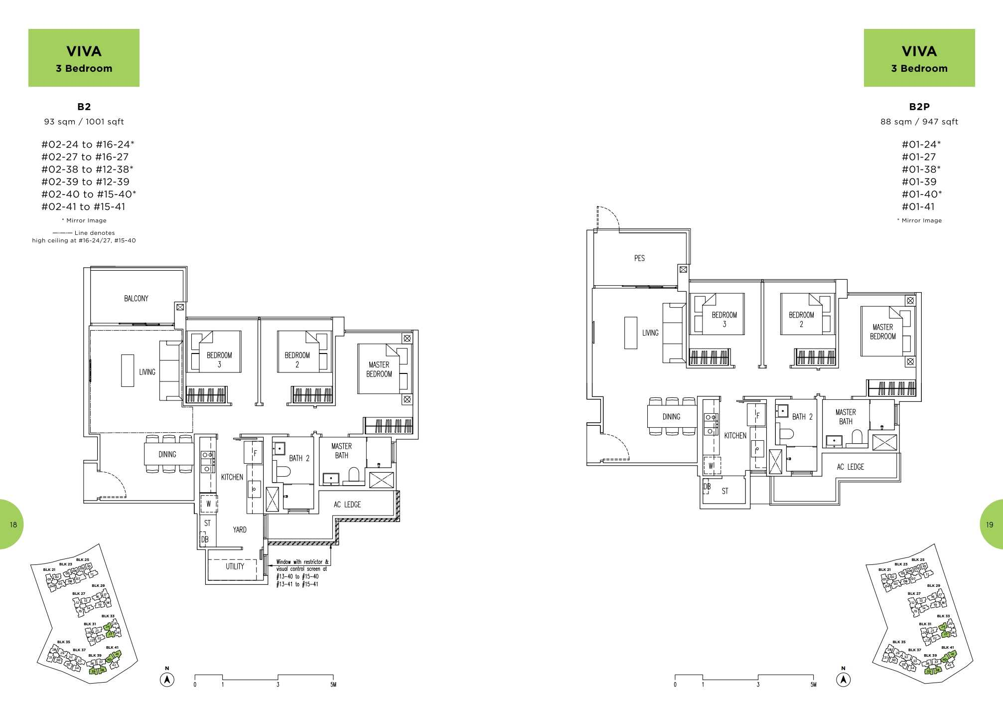 Parc Life FloorPlan B2 and B2P