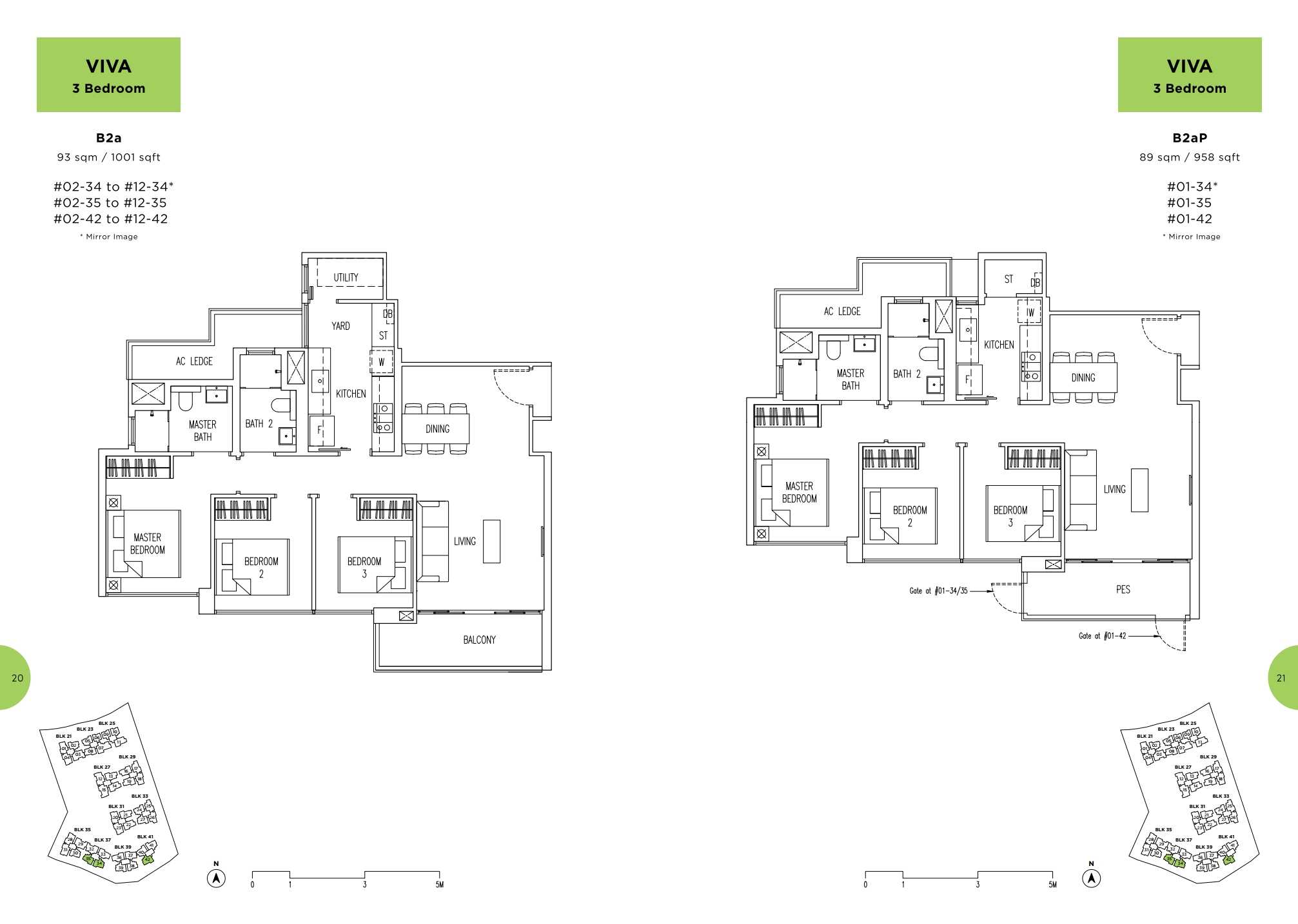 Parc Life FloorPlan B2a and B2aP