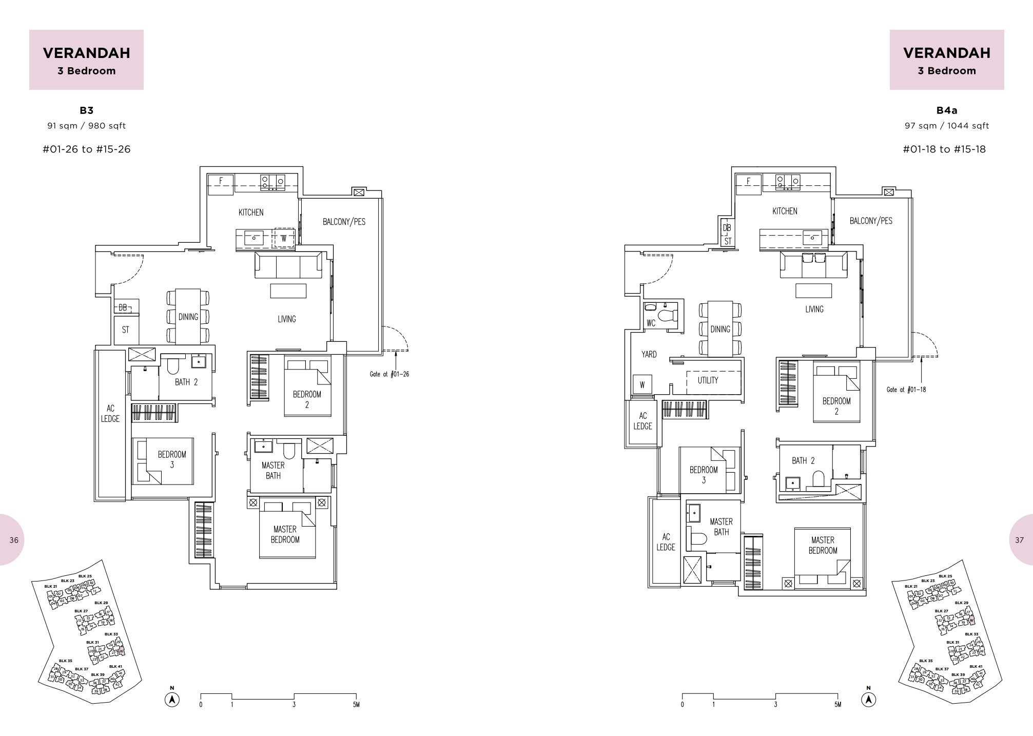 Parc Life FloorPlan B3 and B4a