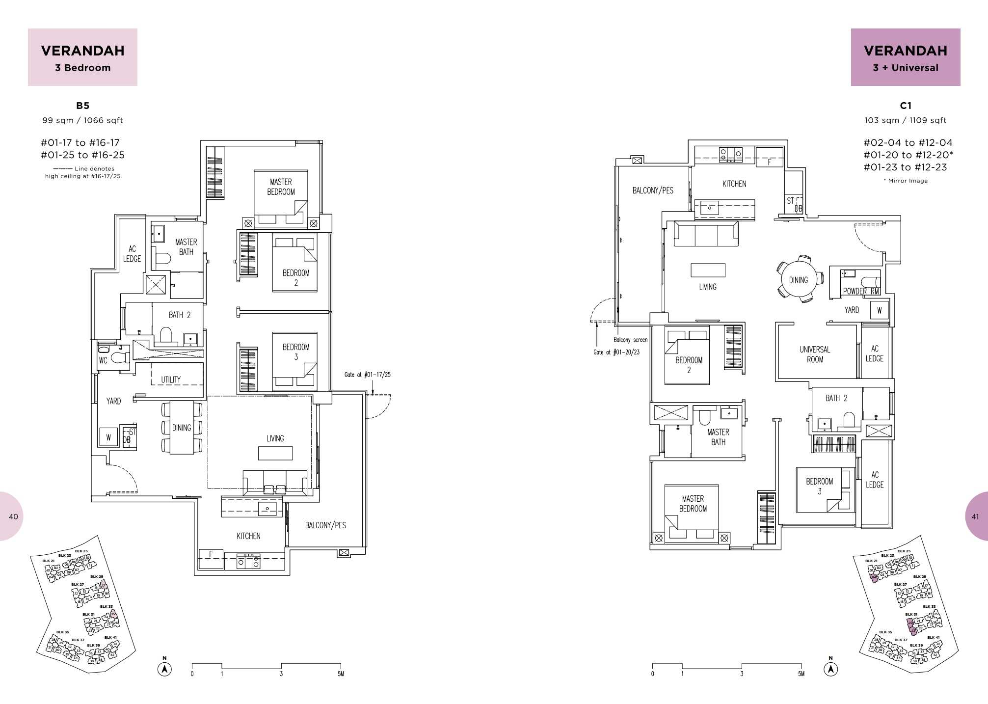 Parc Life FloorPlan B5 and C1