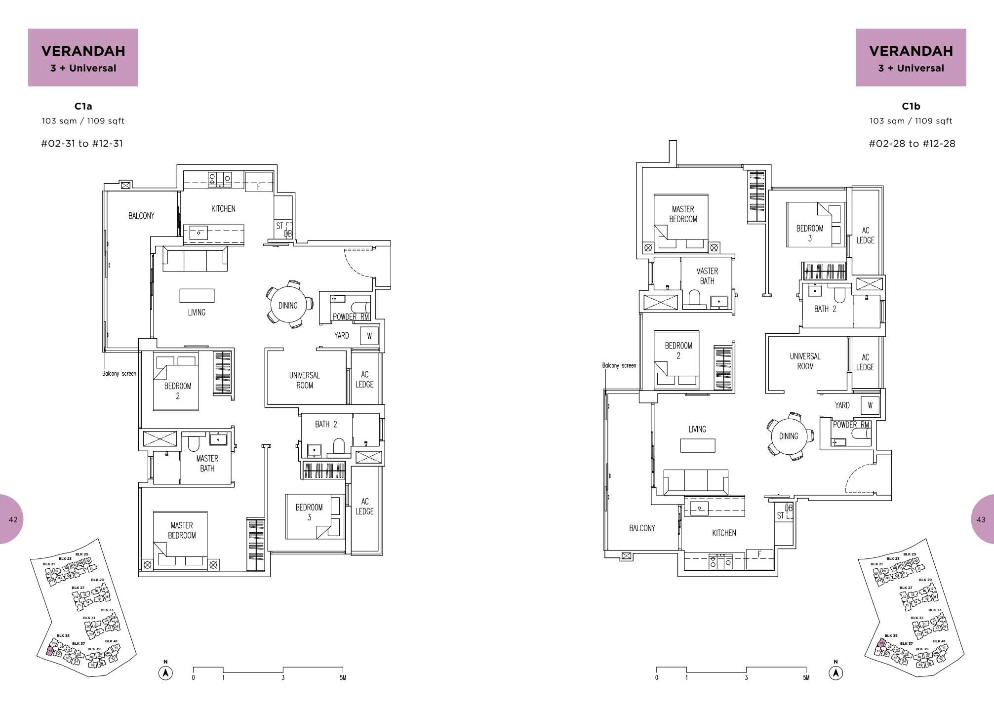 Parc Life FloorPlan C1a and C1b