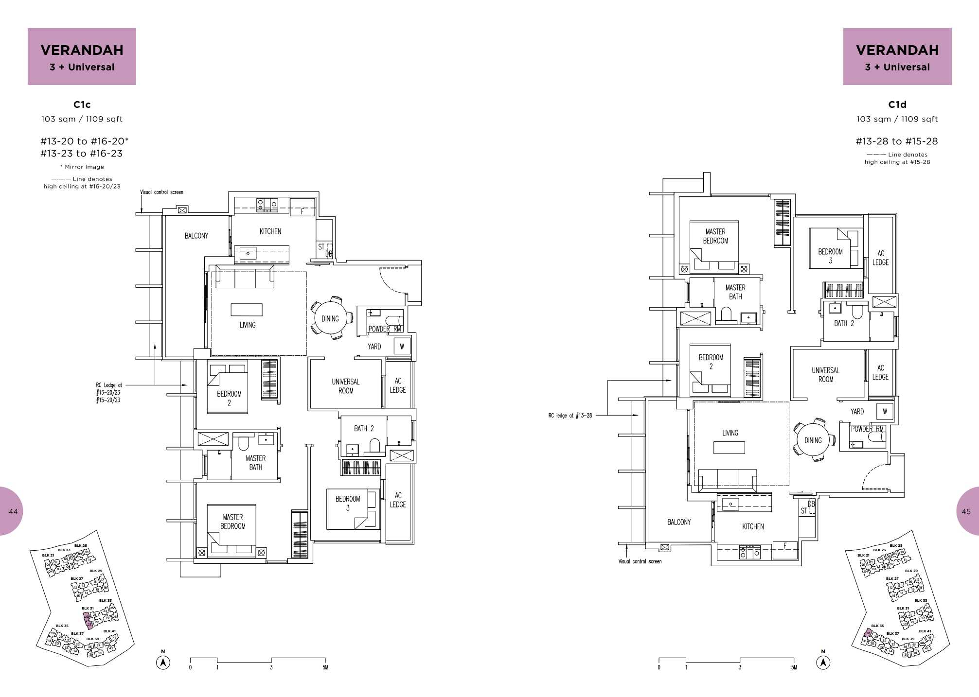 Parc Life FloorPlan C1c and C1d