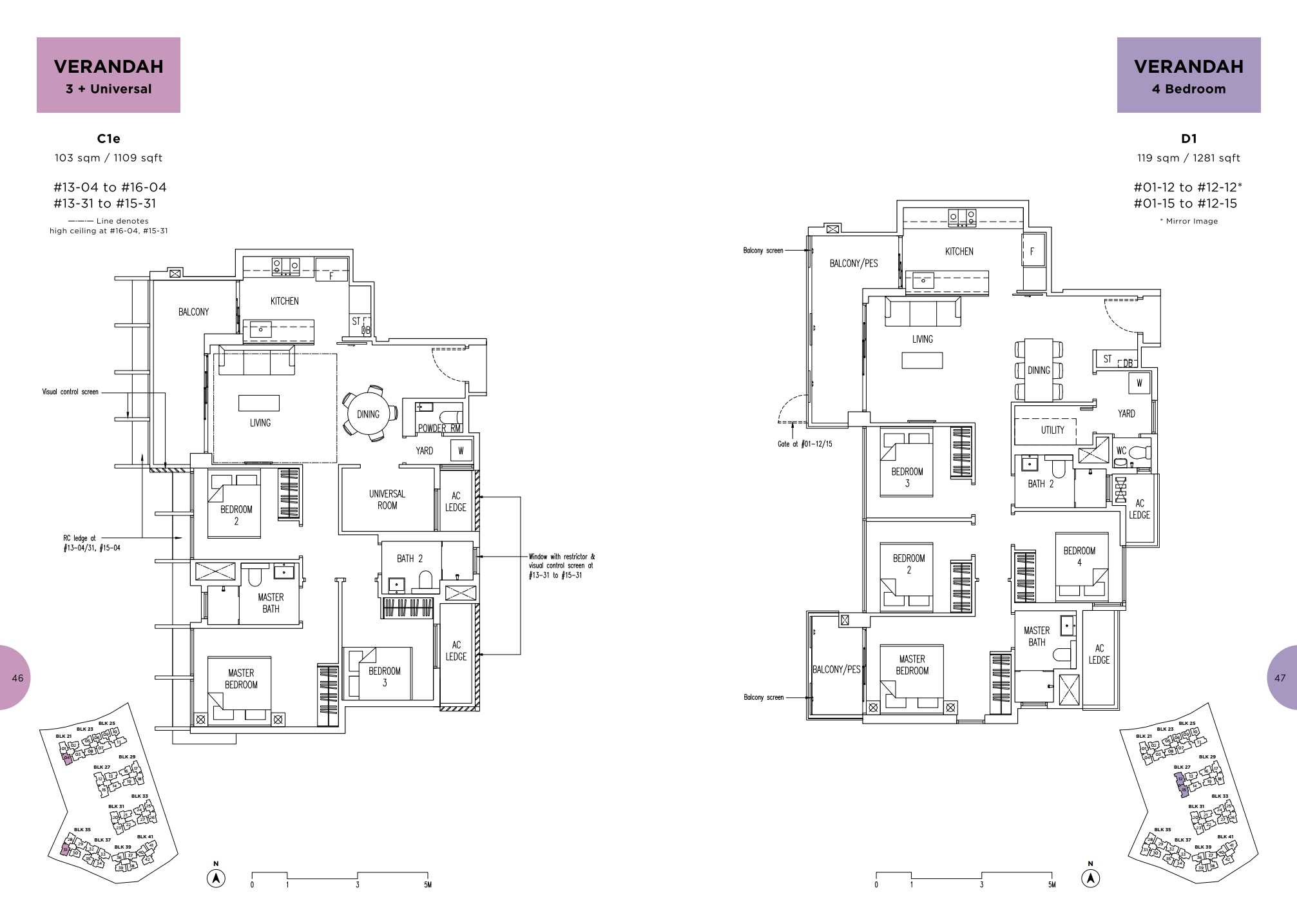 Parc Life FloorPlan C1e and D1