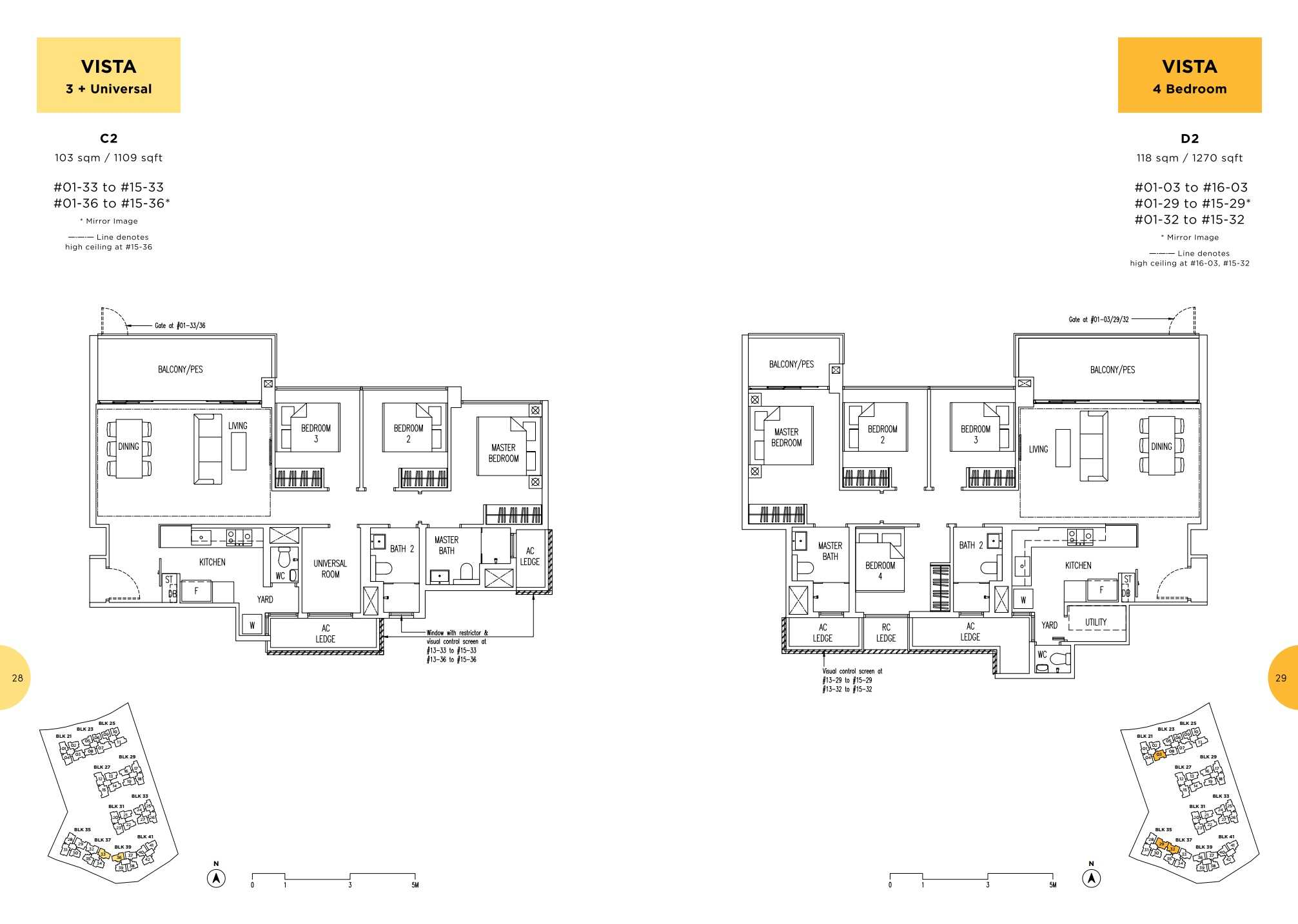 Parc Life FloorPlan C2 and D2