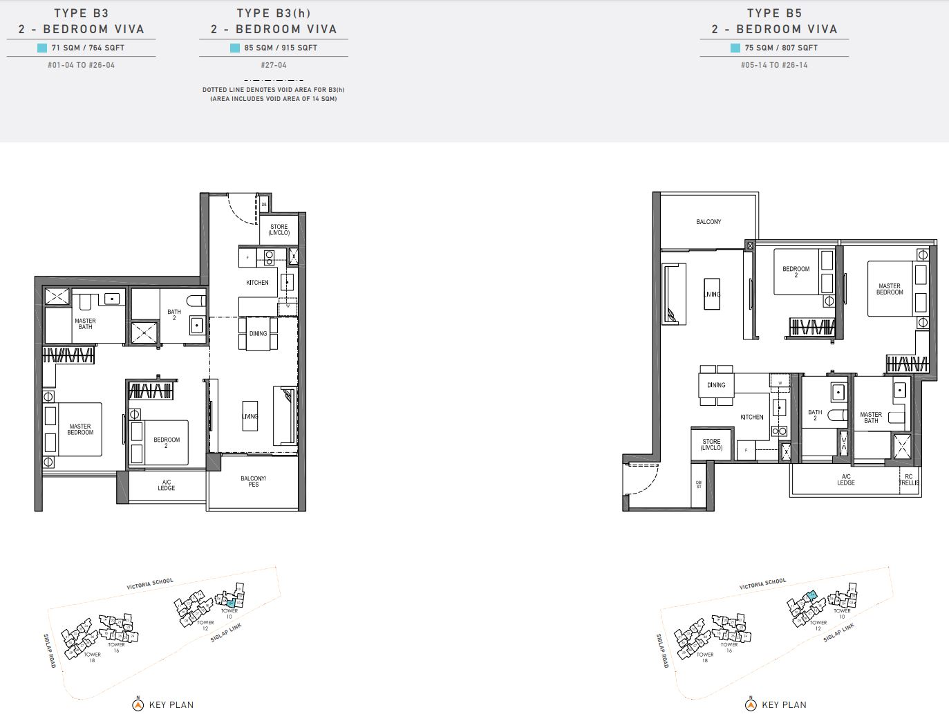 Seaside Residences FloorPlan - 2 Bedroom Viva_2