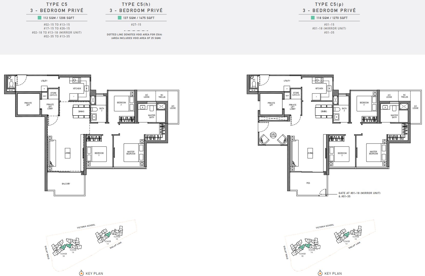 Seaside Residences FloorPlan - 3 Bedroom Prive_2