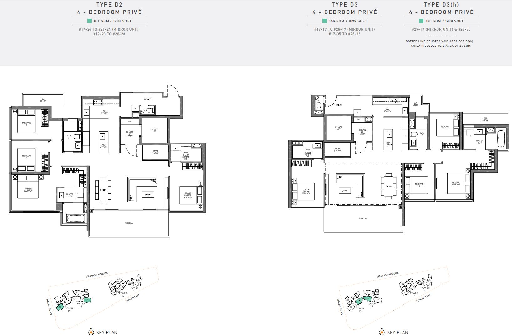 Seaside Residences FloorPlan - 4 Bedroom Prive