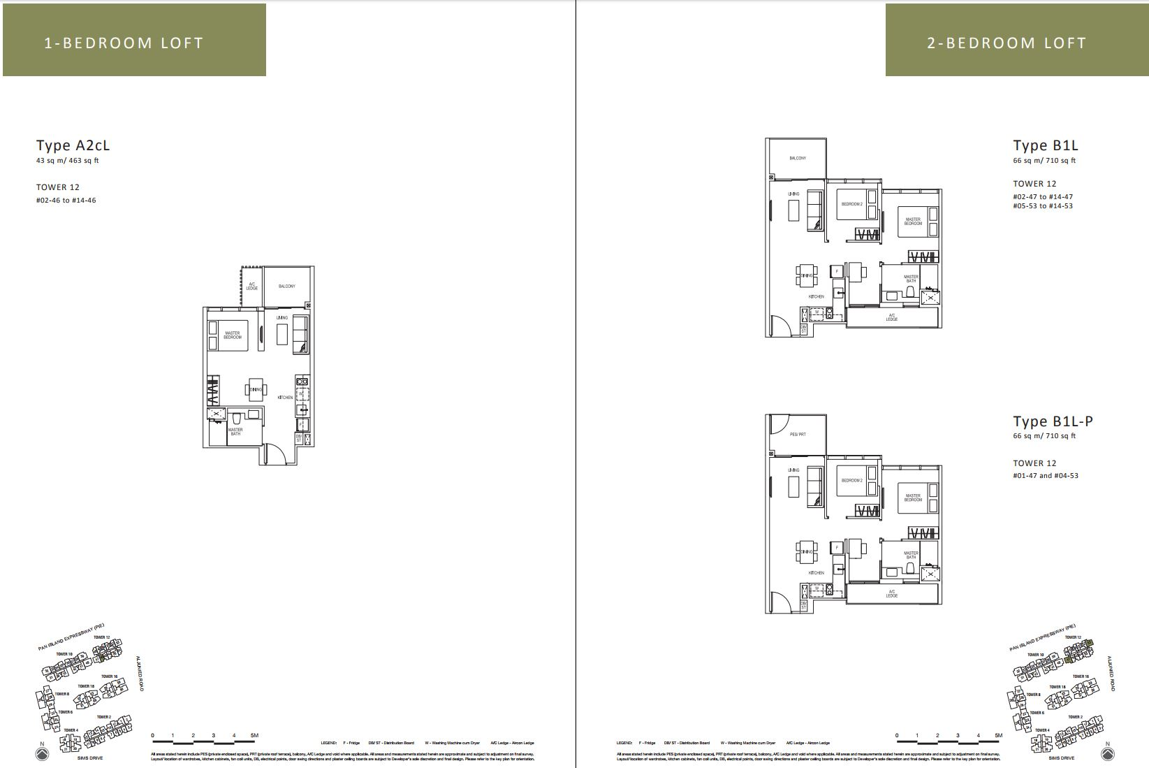 Sims Urban Oasis FloorPlan - 1 & 2 Bedroom Loft