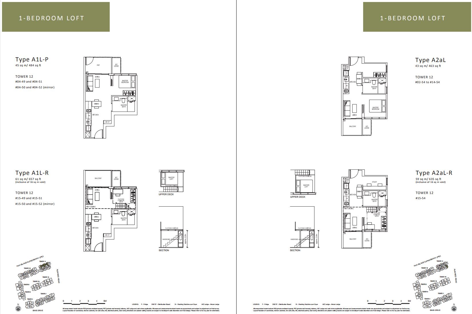 Sims Urban Oasis FloorPlan - 1 Bedroom Loft_2