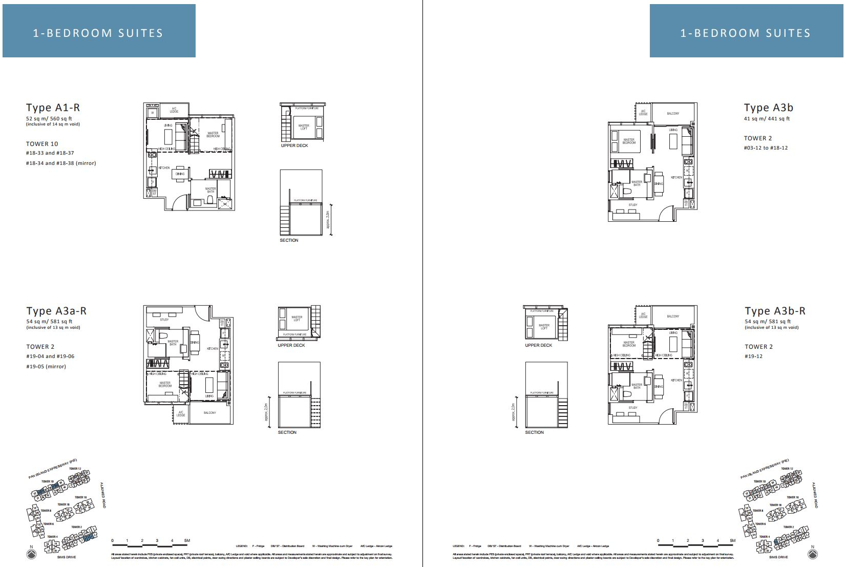 Sims Urban Oasis FloorPlan - 1 Bedroom Suites