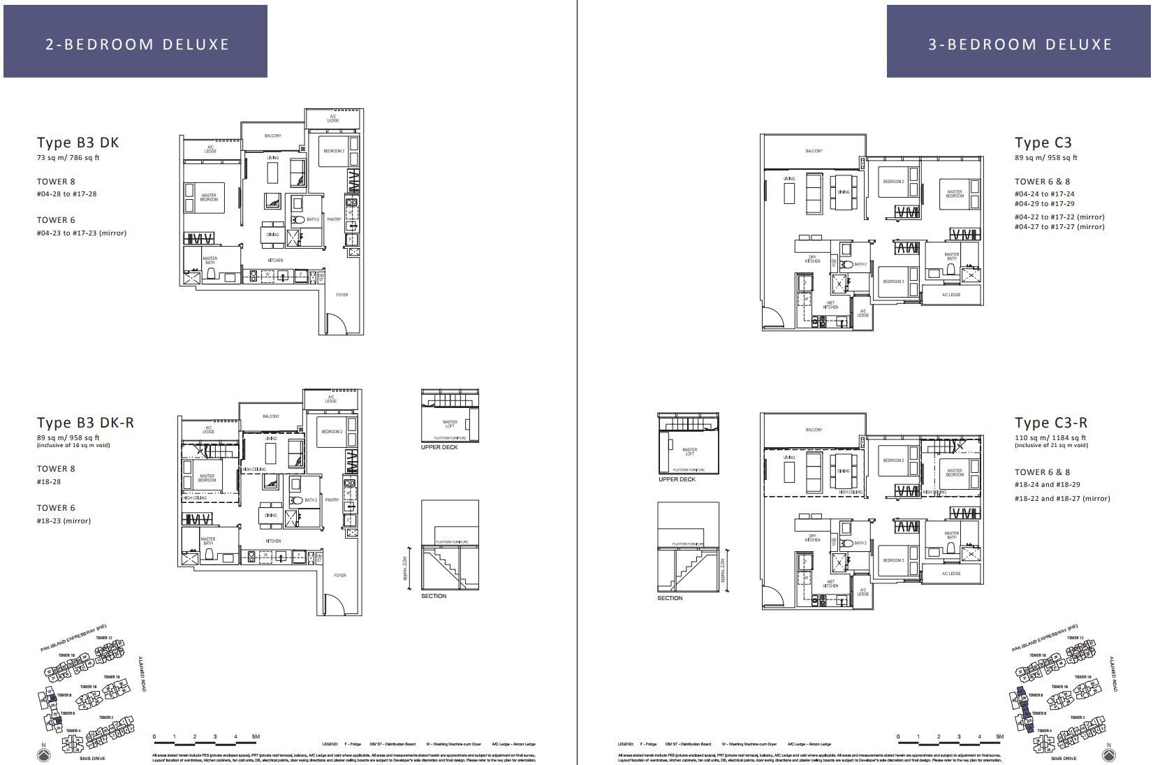 Sims Urban Oasis FloorPlan - 2 & 3 Bedroom Deluxe