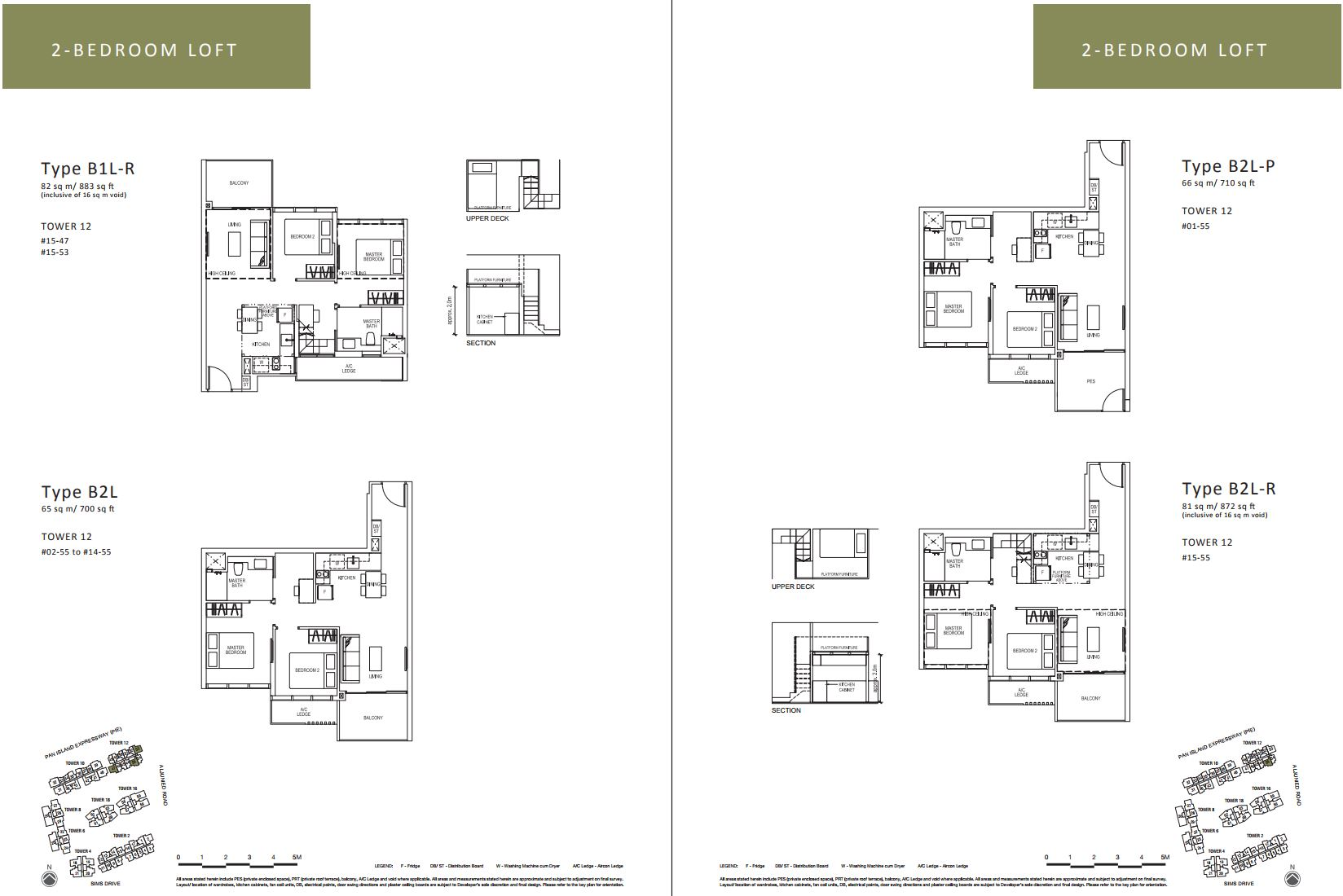 Sims Urban Oasis FloorPlan - 2 Bedroom Loft