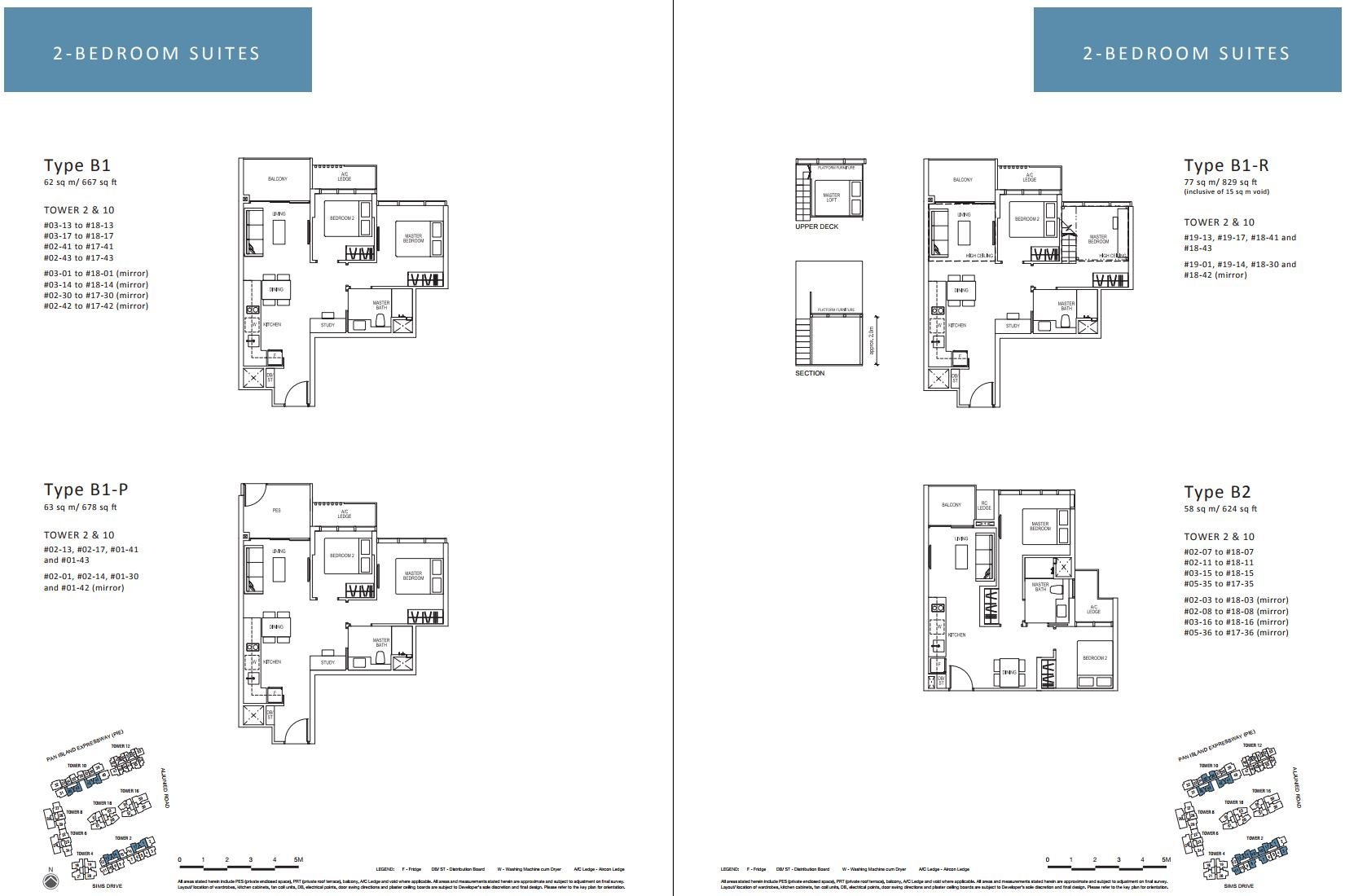 Sims Urban Oasis FloorPlan - 2 Bedroom Suites