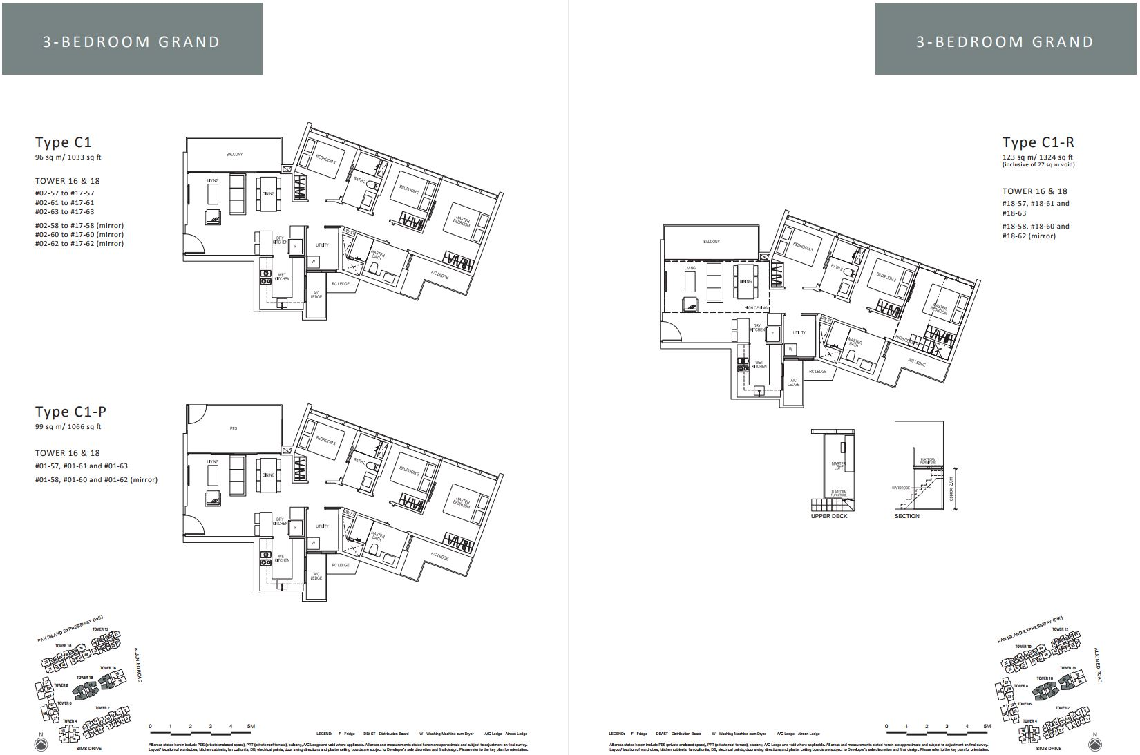Sims Urban Oasis FloorPlan - 3 Bedroom Grand