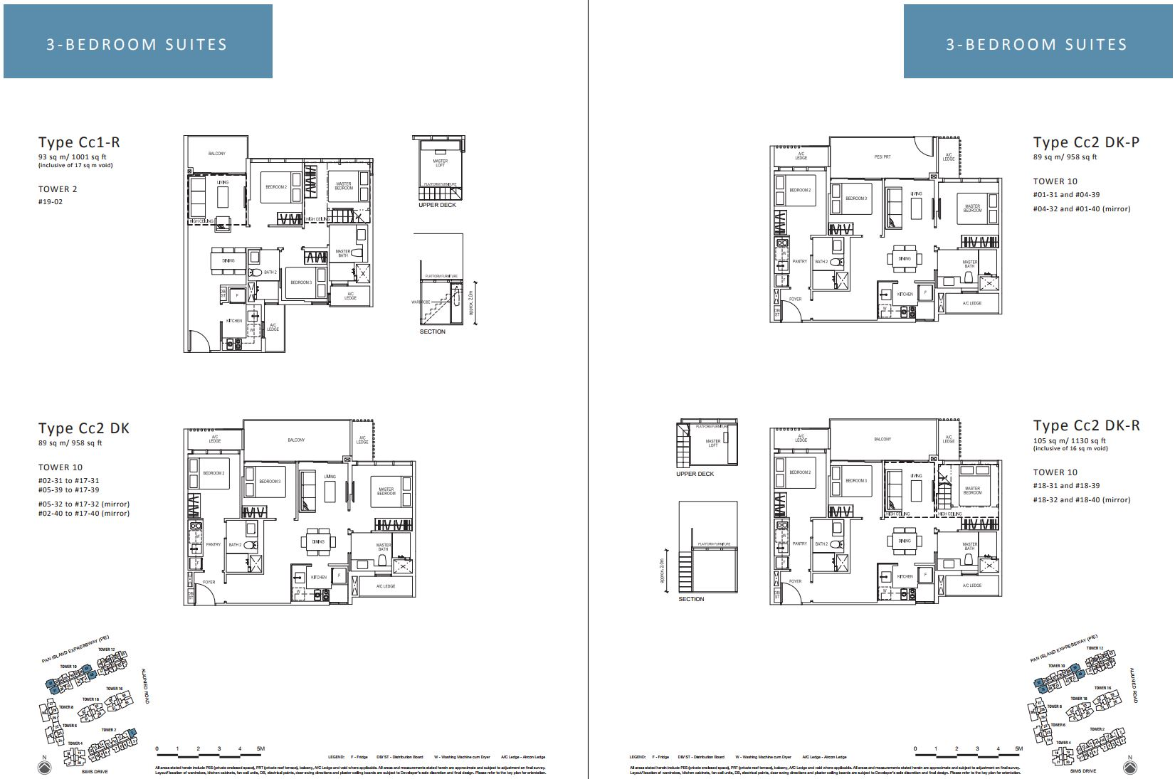 Sims Urban Oasis FloorPlan - 3 Bedroom Suites