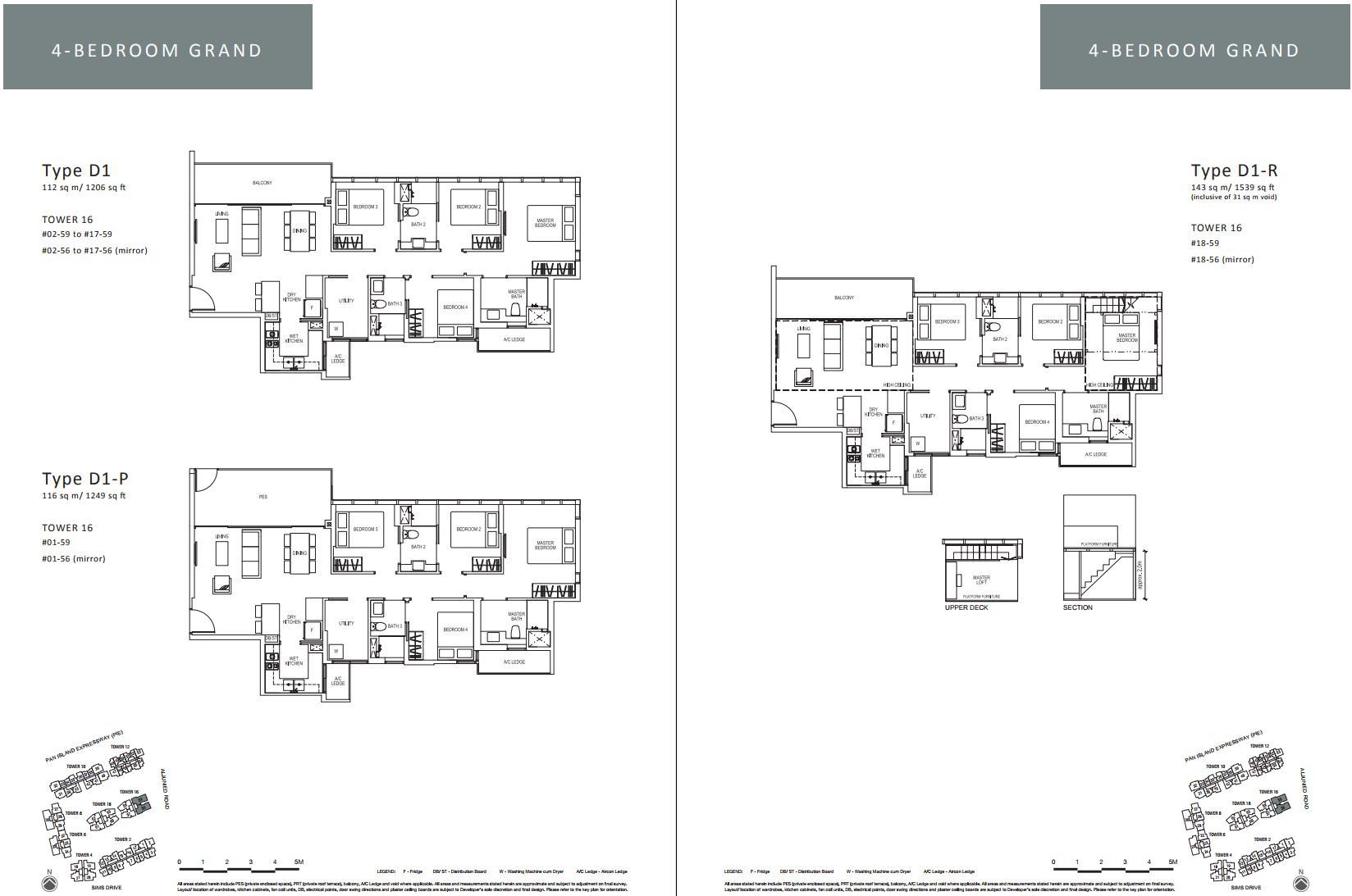 Sims Urban Oasis FloorPlan - 4 Bedroom Grand