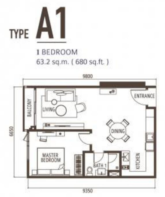 Suasana FloorPlan - Type A1