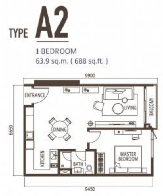Suasana FloorPlan - Type A2