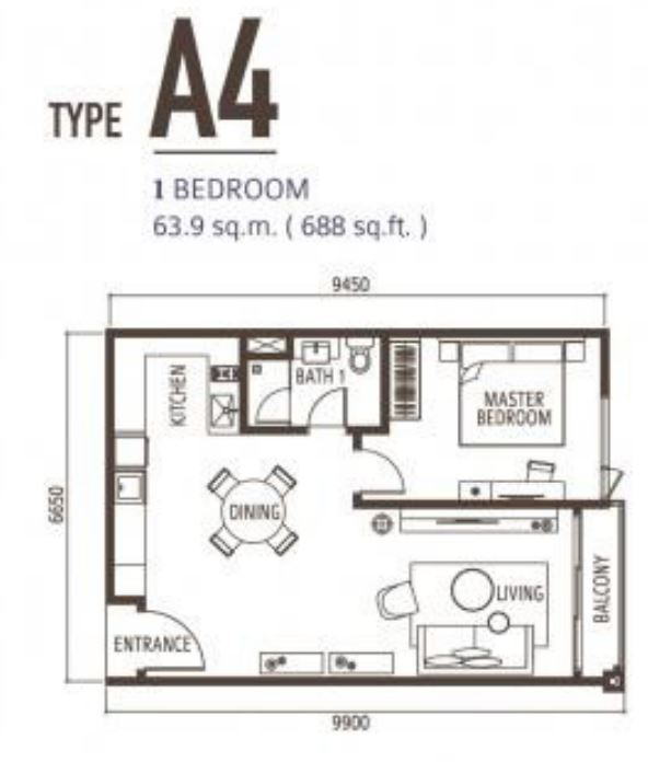 Suasana FloorPlan - Type A4