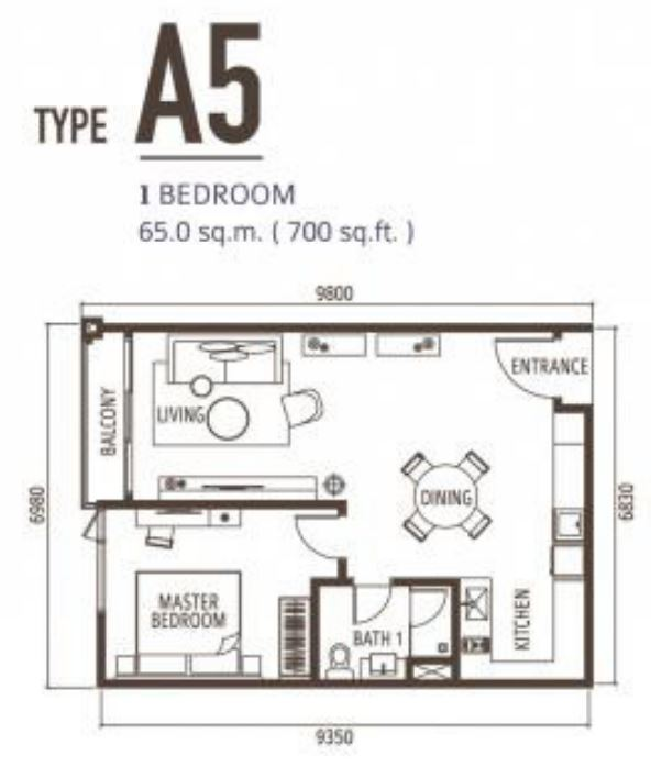 Suasana FloorPlan - Type A5
