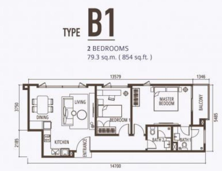 Suasana FloorPlan - Type B1