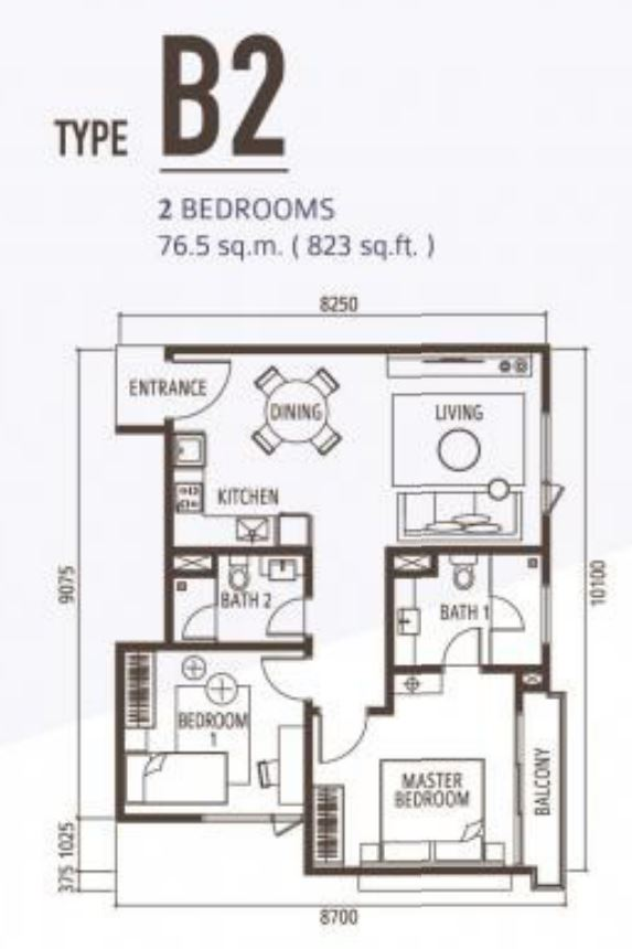 Suasana Floorplan - Type B2