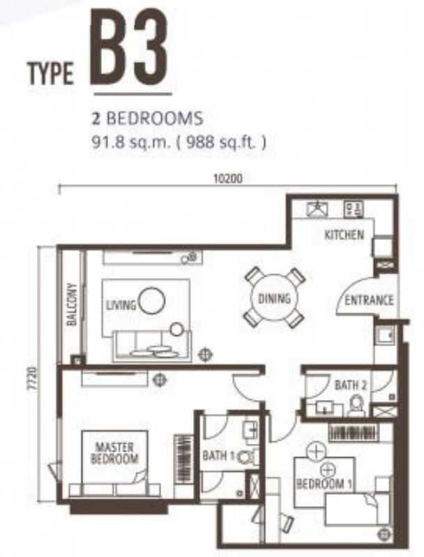 Suasana Floorplan - Type B3