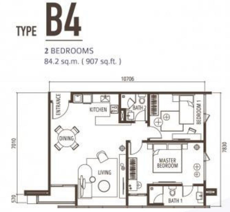 Suasana Floorplan - Type B4