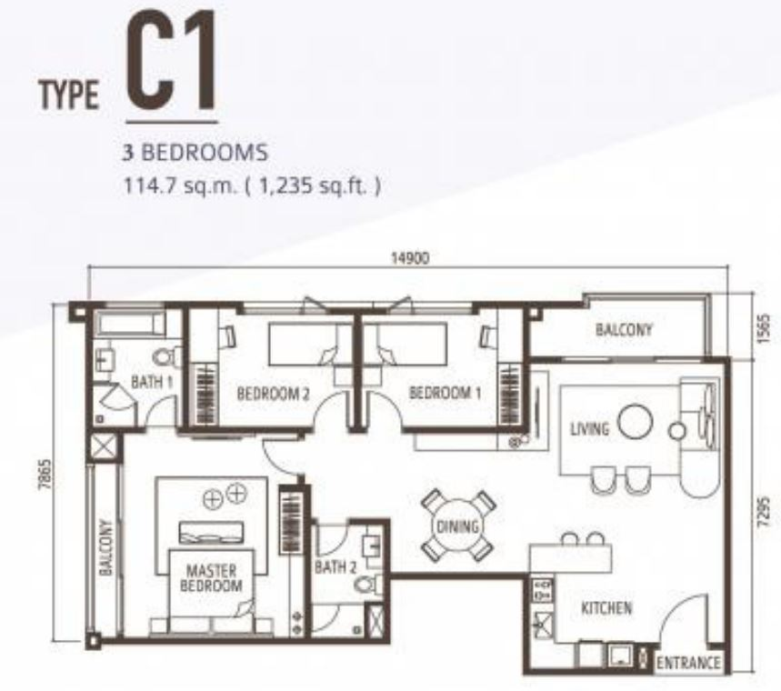 Suasana Floorplan - Type C1