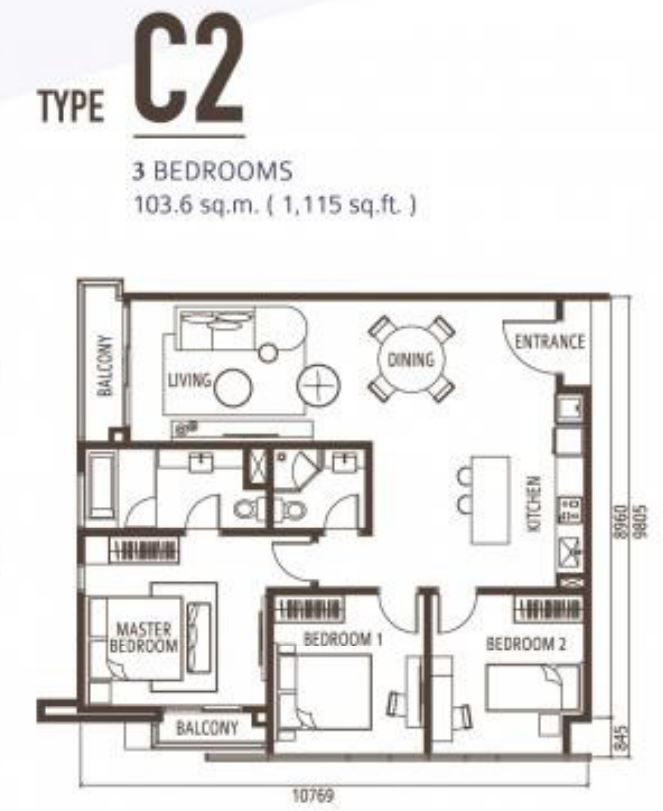 Suasana Floorplan - Type C2
