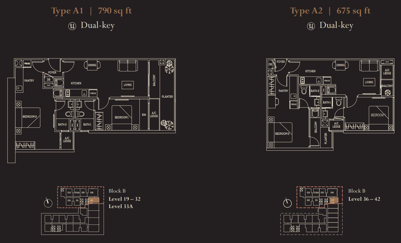 The Luxe FloorPlan - Type A1 & A2