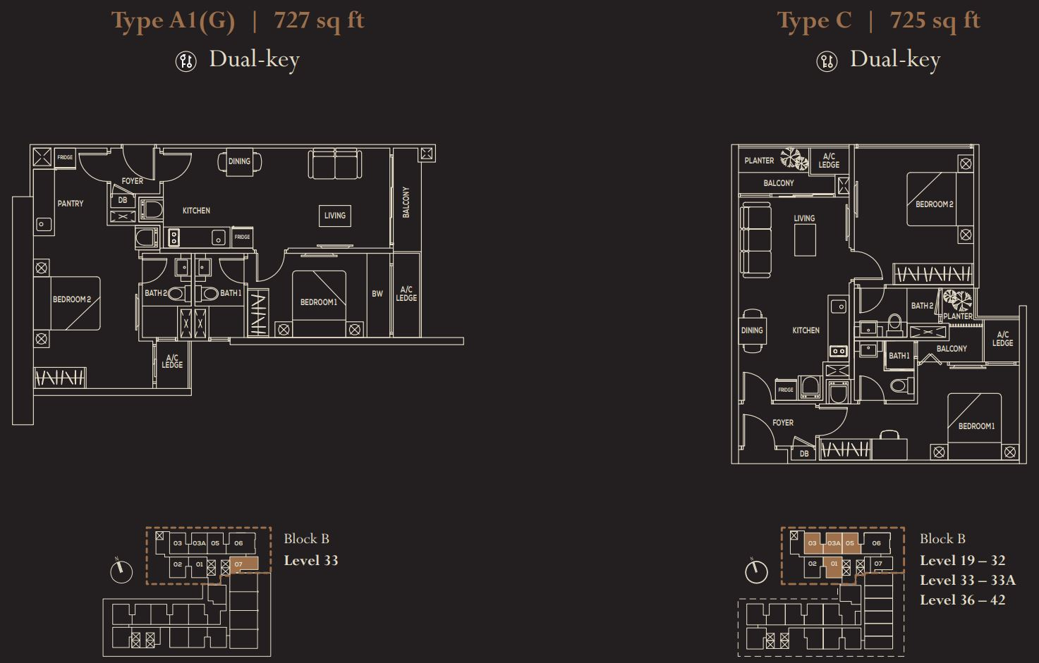 The Luxe FloorPlan - Type A1(G) & C