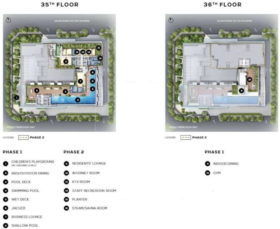 The Luxe Site Plan