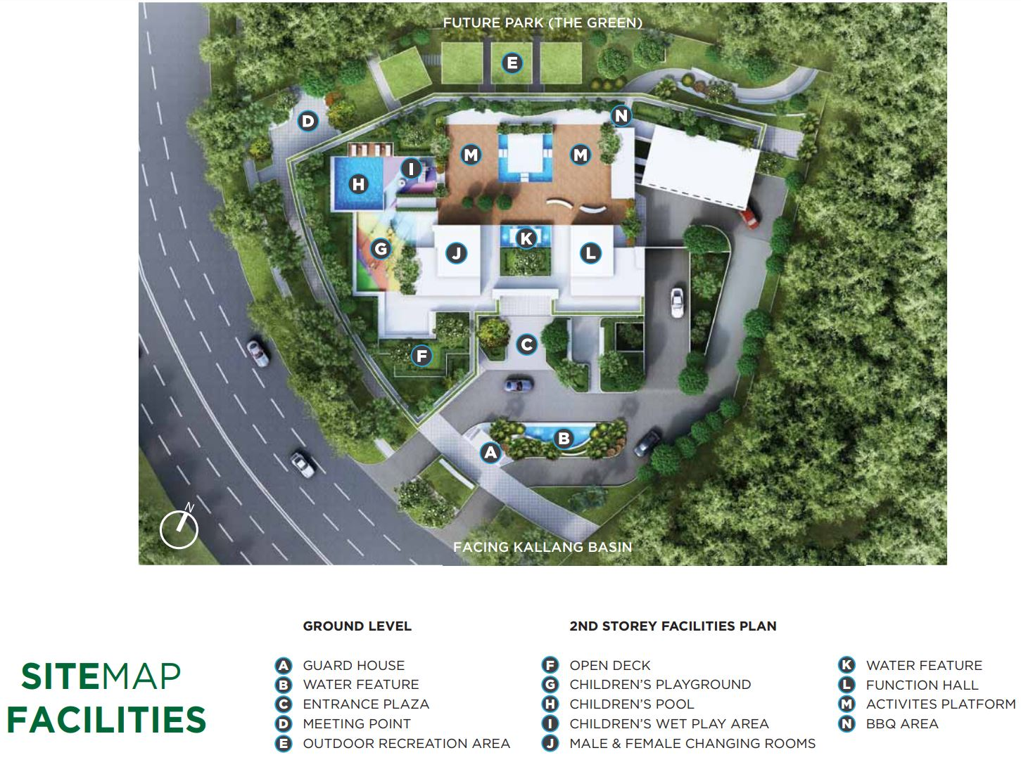 Kallang Riverside Siteplan Facilities