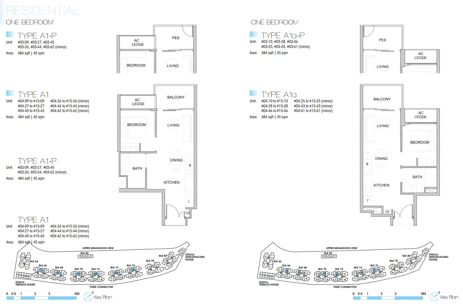Kingsford Waterbay FloorPlan - 1 Bedroom Type A1