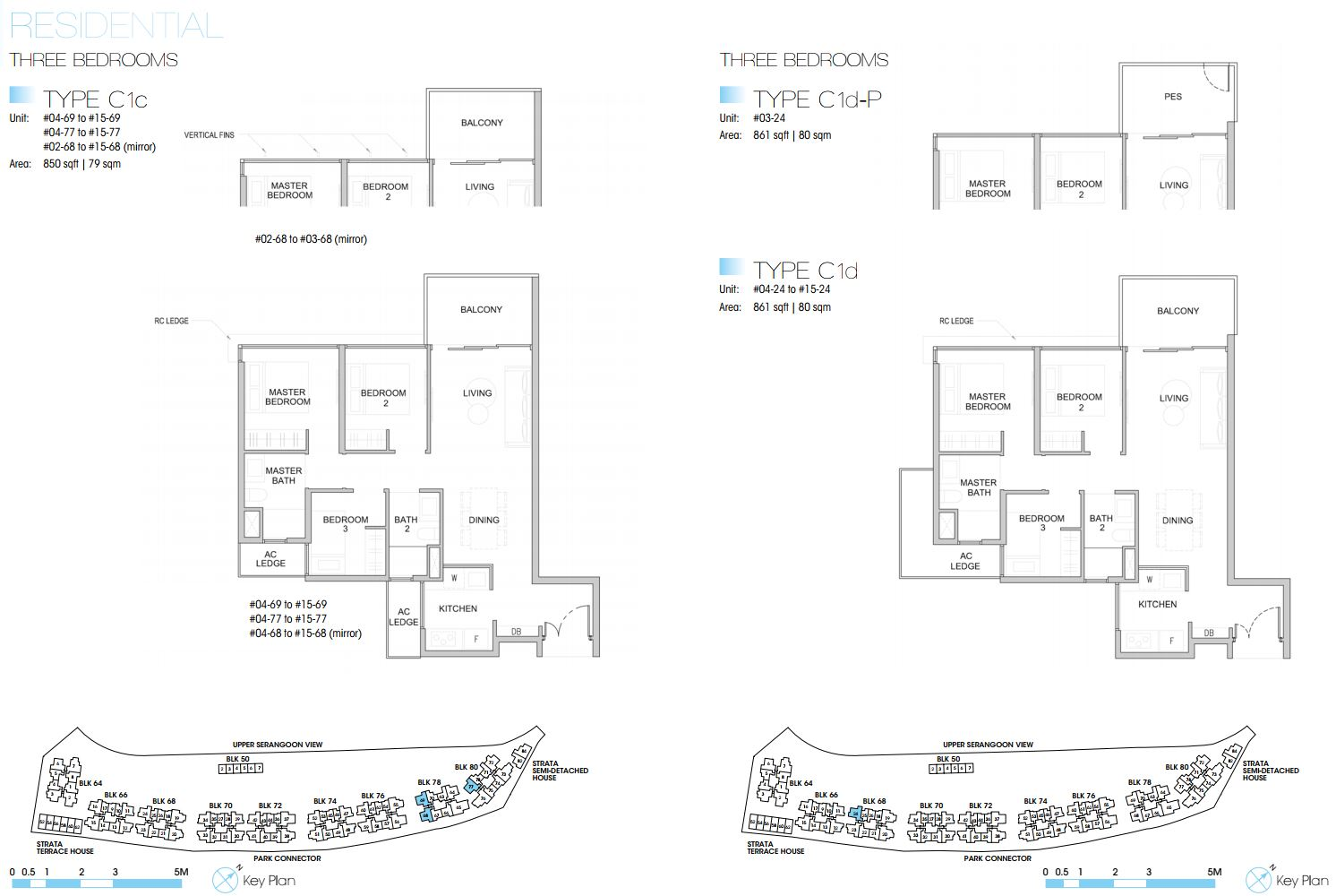 Kingsford Waterbay FloorPlan - 3 Bedroom Type C1_3