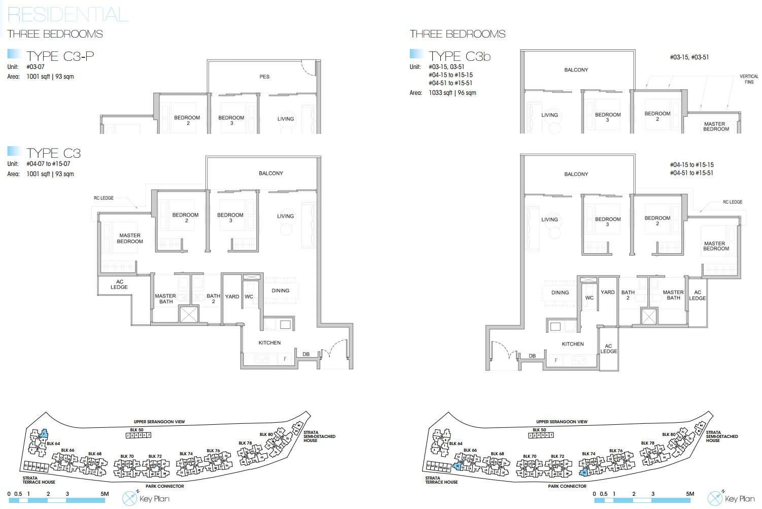 Kingsford Waterbay FloorPlan - 3 Bedroom Type C3