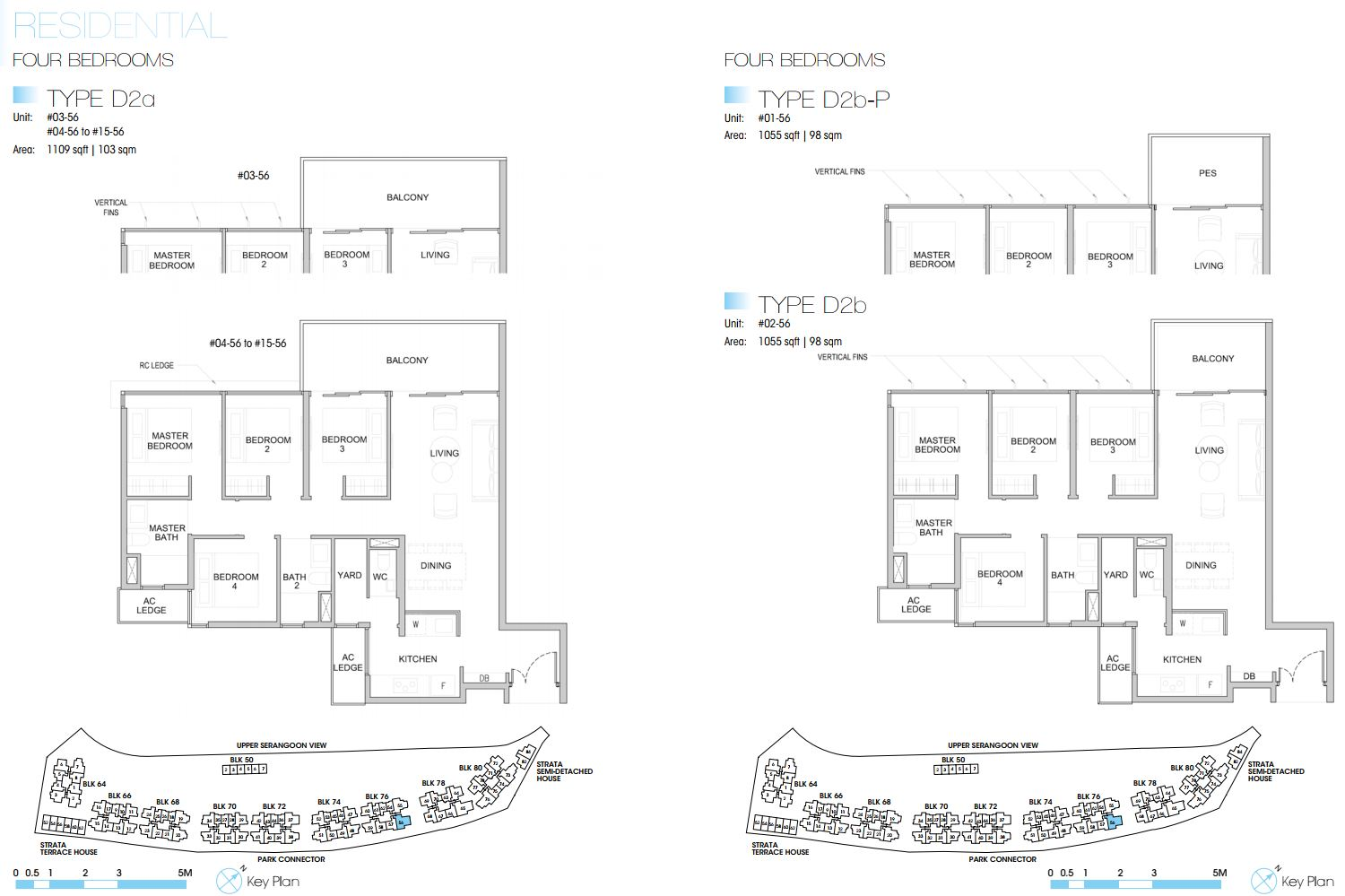 Kingsford Waterbay FloorPlan - 4 Bedroom Type D2