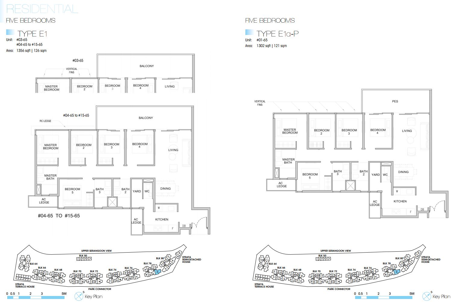 Kingsford Waterbay FloorPlan - 5 Bedroom Type E1