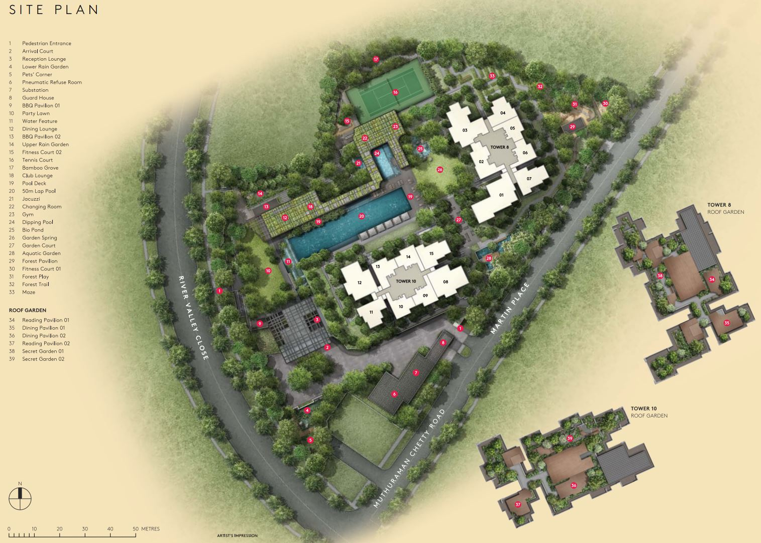 Martin Modern Site plan facilities
