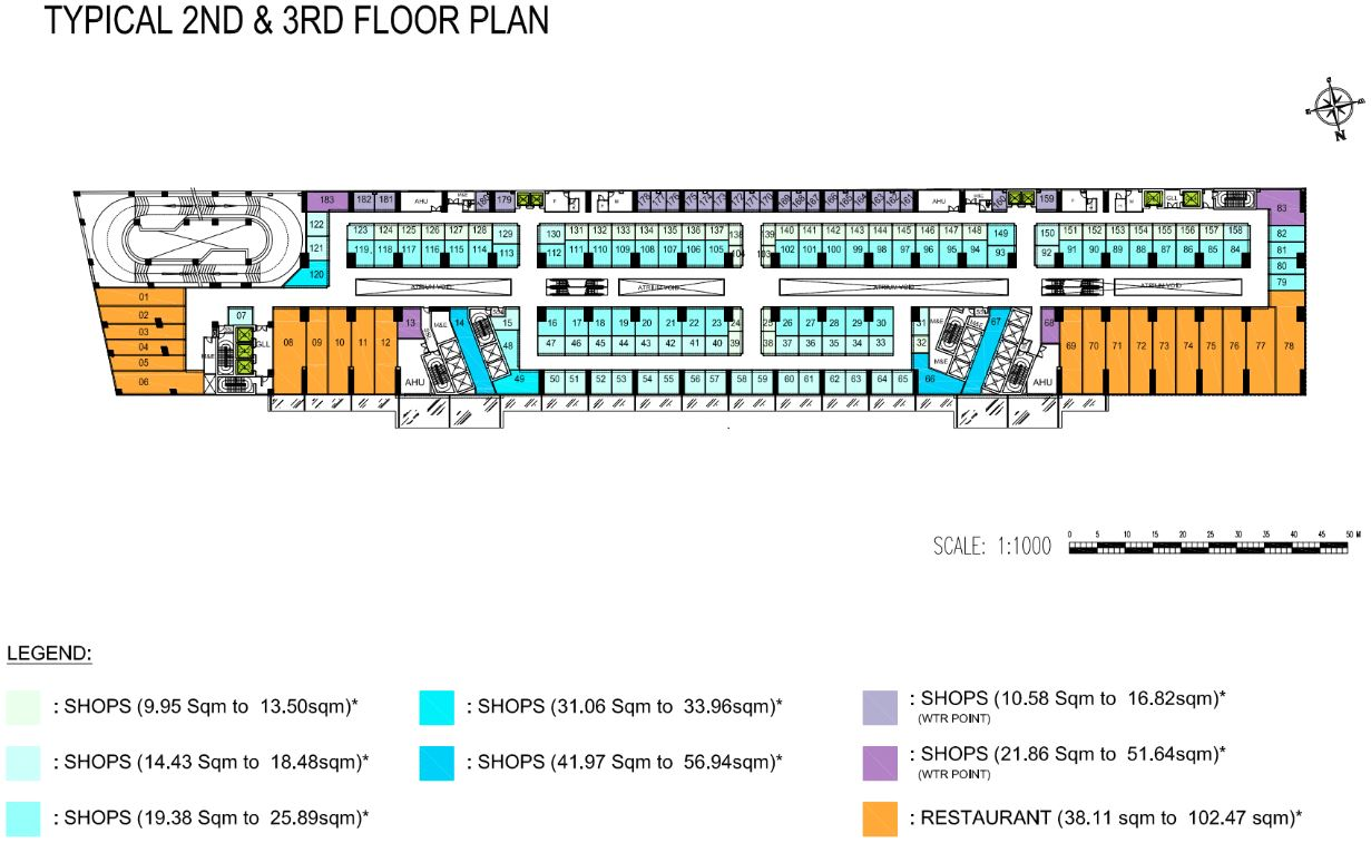 The Bridge Retail FloorPlan - 2nd & 3rd Floor