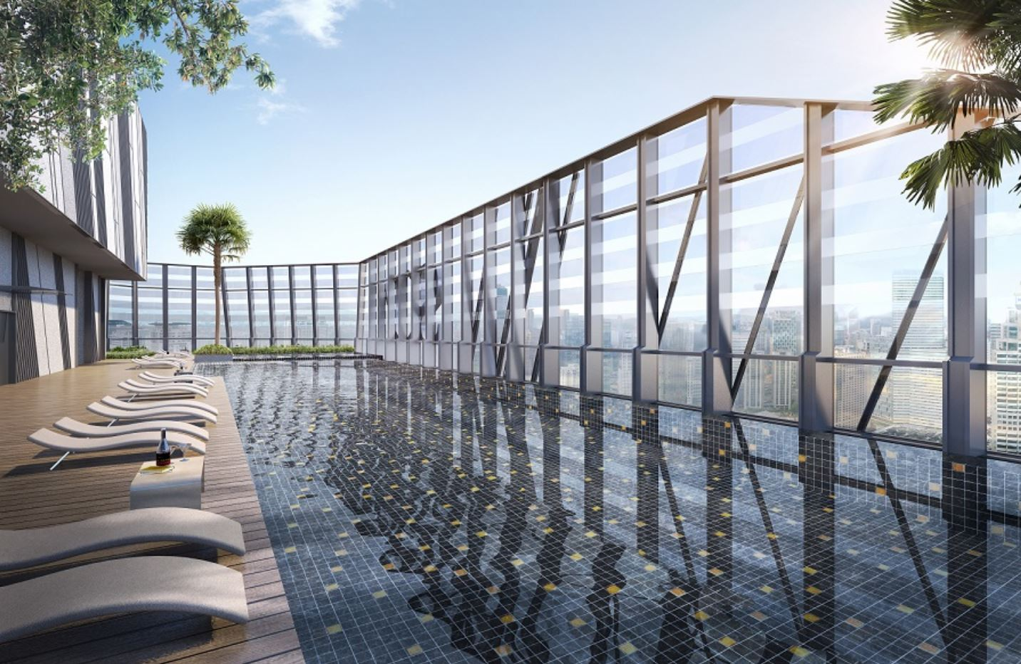 So Sofitel KL Residences Swimming Pool at Level 77 - One of the World's Highest Swimming Pool
