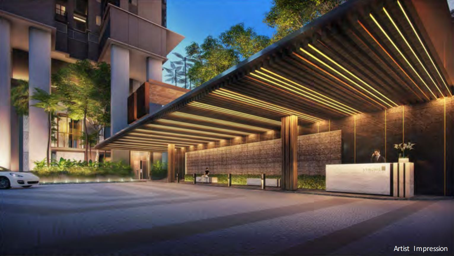 Stirling Residences Grand Dropoff, Waiting Lounge & Concierge
