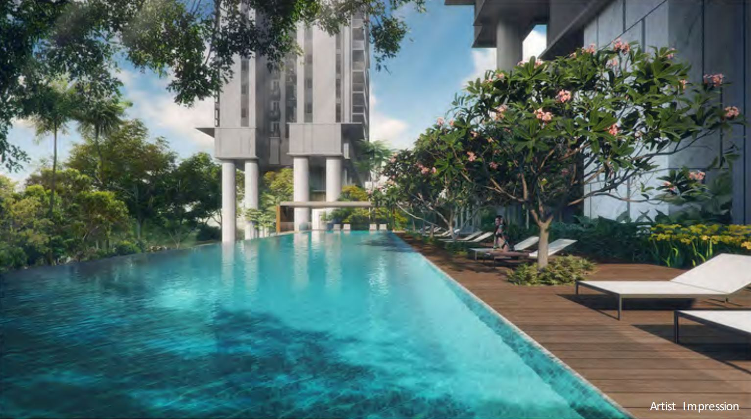 One of the 7 pools in the Stirling Residences