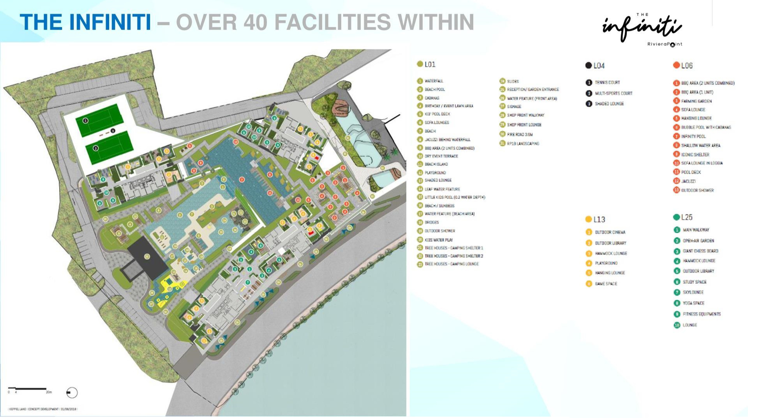 The Infiniti Site Plan