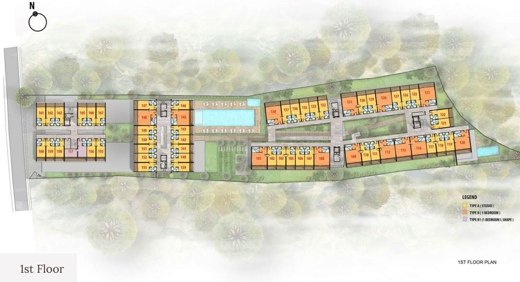 Citadines Berawa Beach Bali Site Plan 1st Floor