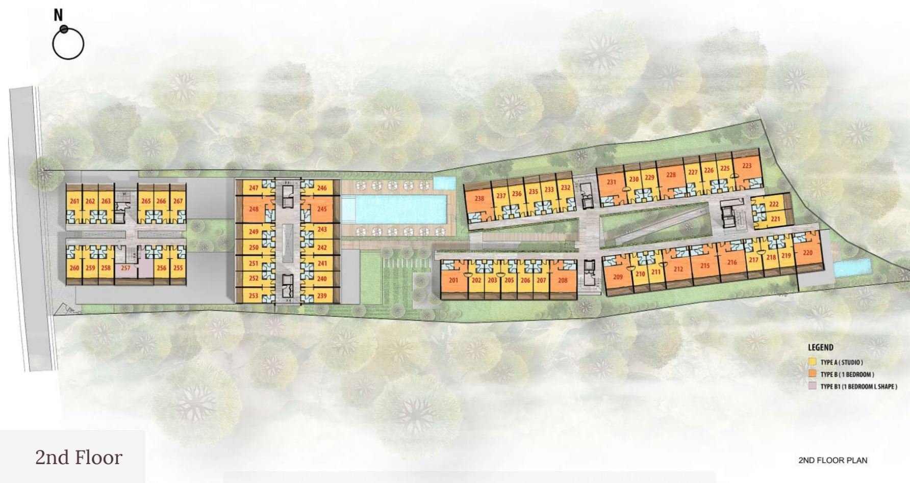 Citadines Berawa Beach Bali Site Plan 2nd Floor